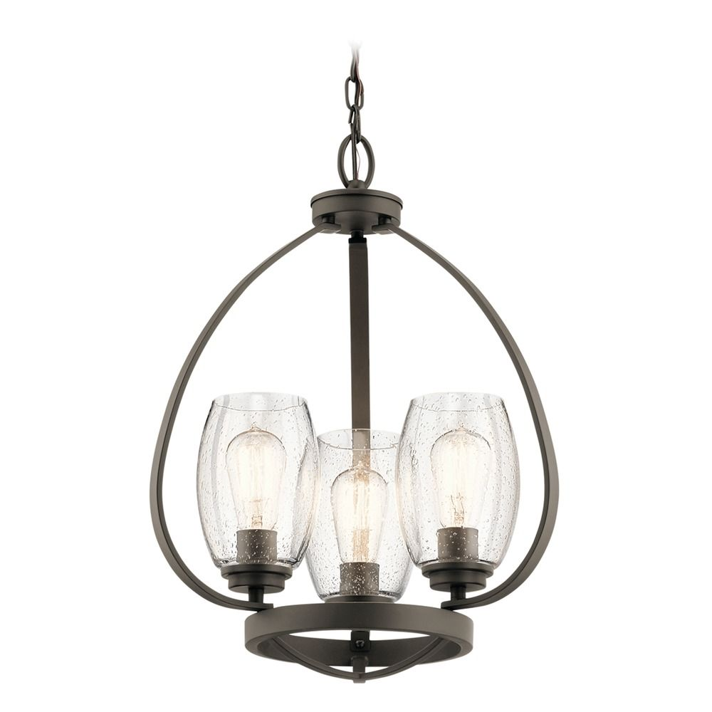Seeded Glass Mini Chandelier Olde Bronze Tuscany By