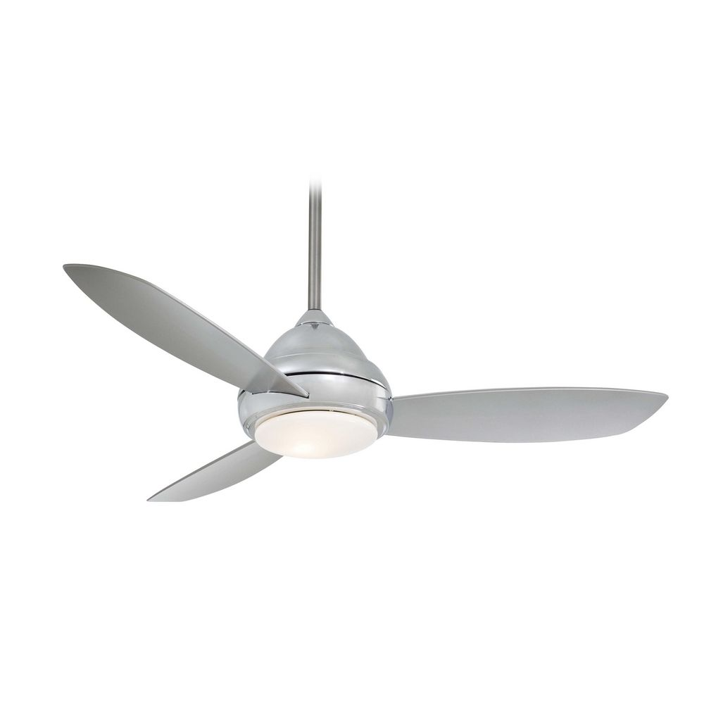 Modern ceiling fan with light with white glass f517 pn Modern white ceiling fan