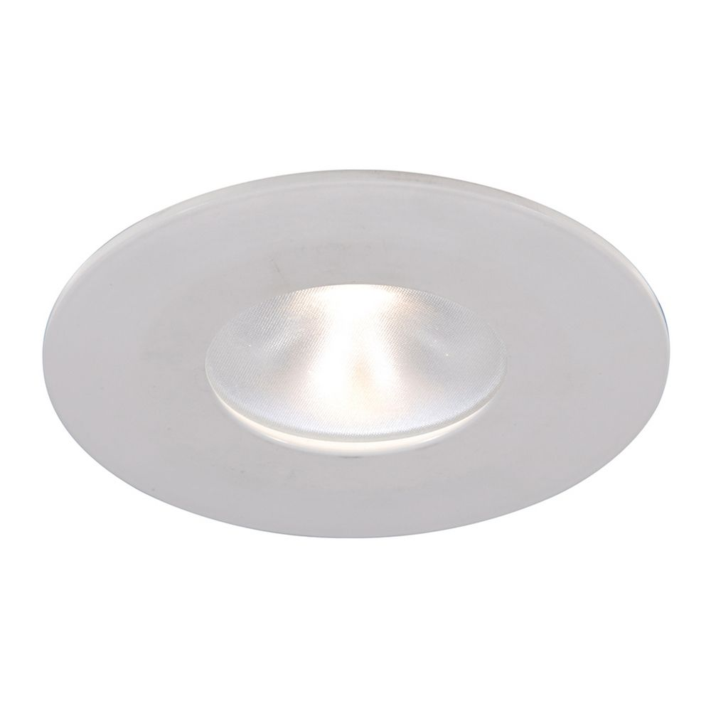 Recessed lighting led trim : Wac lighting quot round reflector white led recessed trim