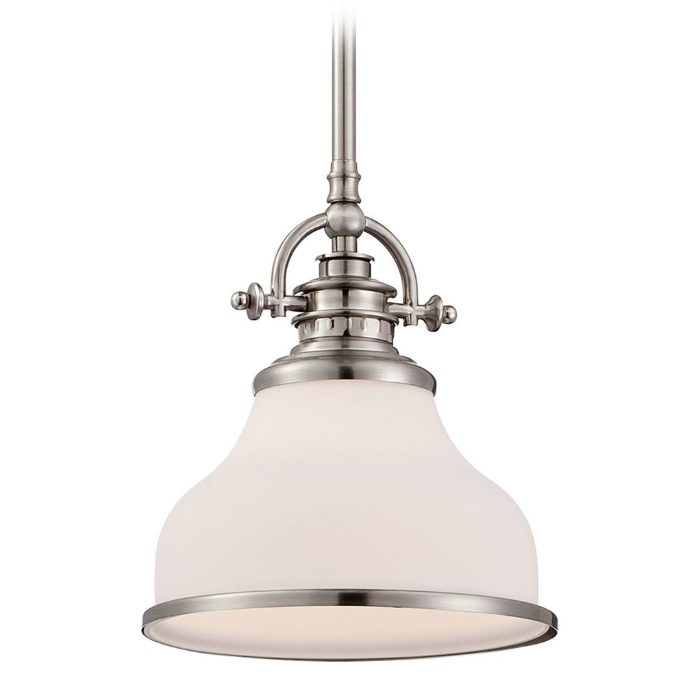 brushed nickel mini pendant light grt1508bn destination lighting