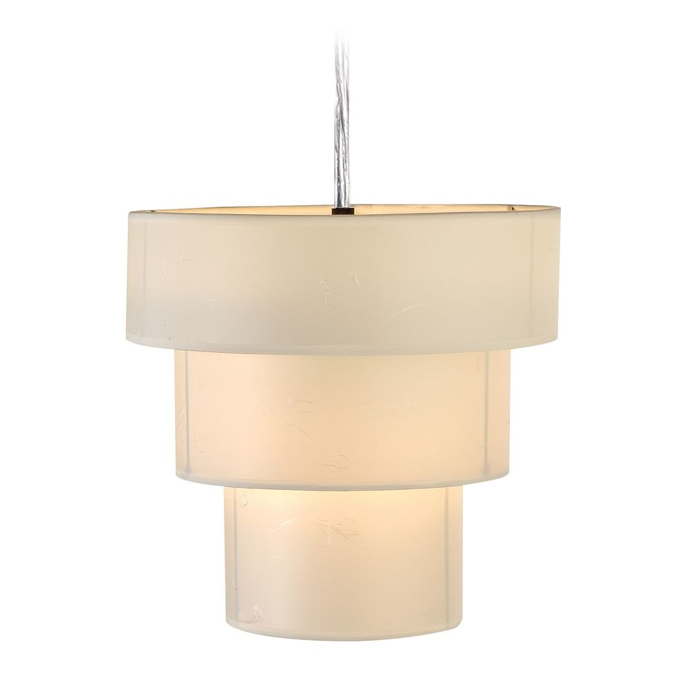 trend lighting tiered pendant light with three drum shades tp9205