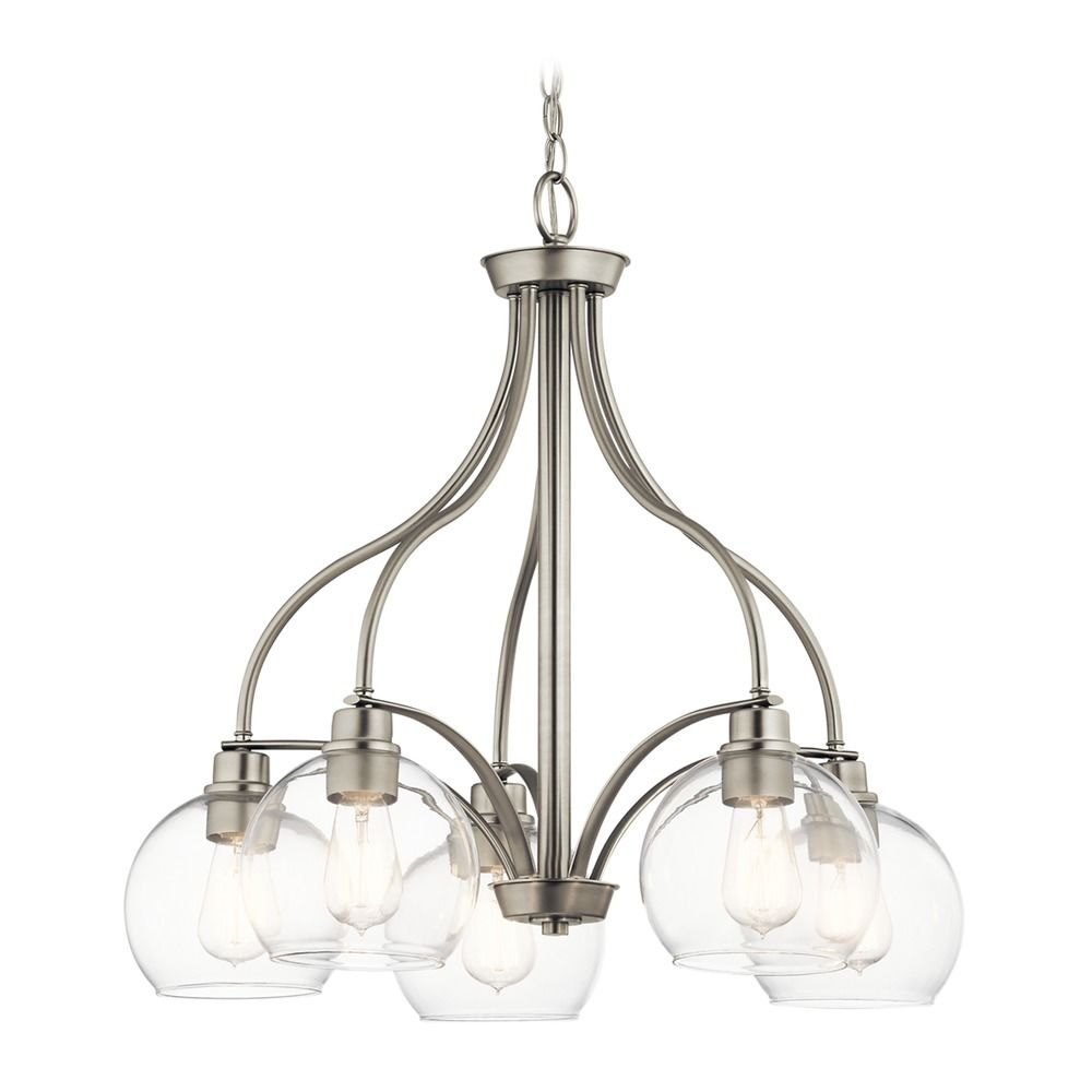 Kichner Lighting: Transitional Chandelier Brushed Nickel Harmony By Kichler