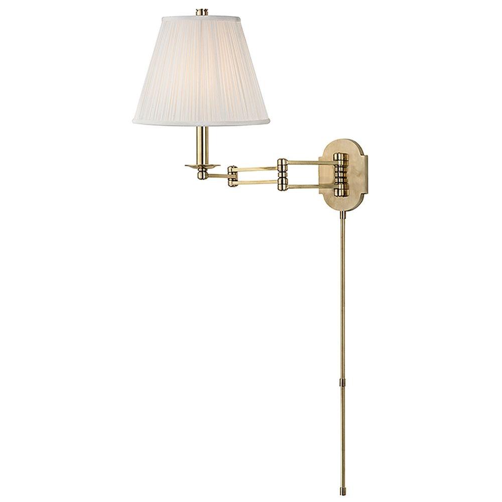 Hudson Valley Emergency Lighting: Hudson Valley Lighting Ravena Aged Brass Swing Arm Lamp
