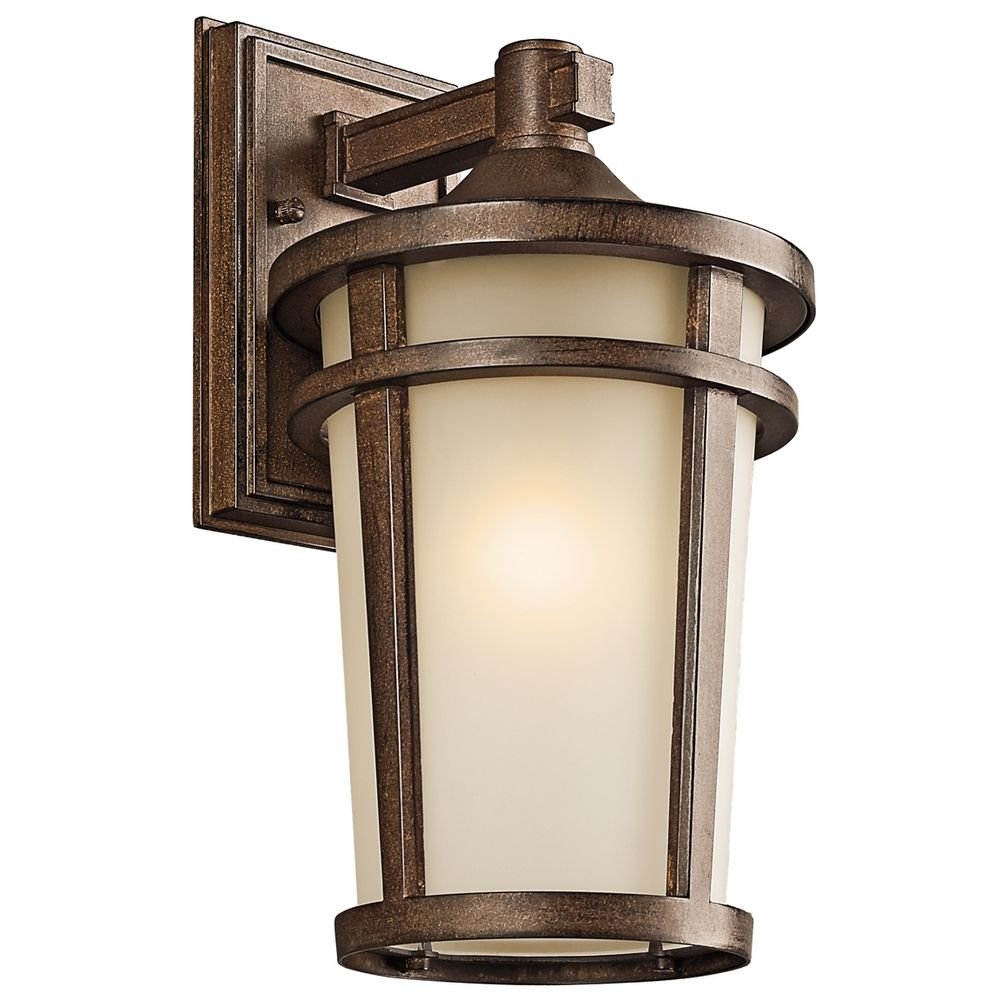 Kichler Outdoor Wall Light in Brown Stone Finish ...