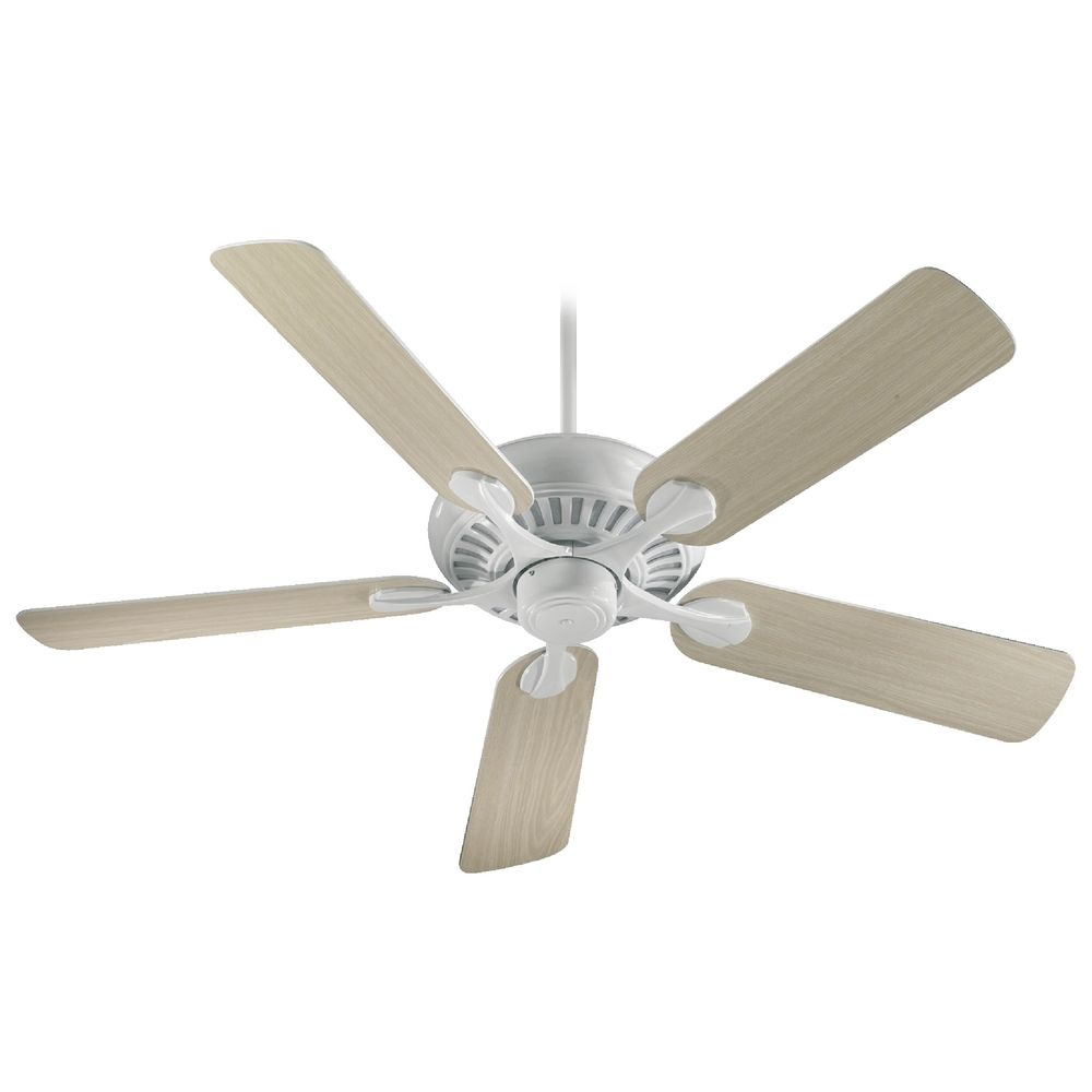 High Quality 60 Ceiling Fans 3 Quorum Ceiling Fans: Quorum Lighting Pinnacle White Ceiling Fan Without Light