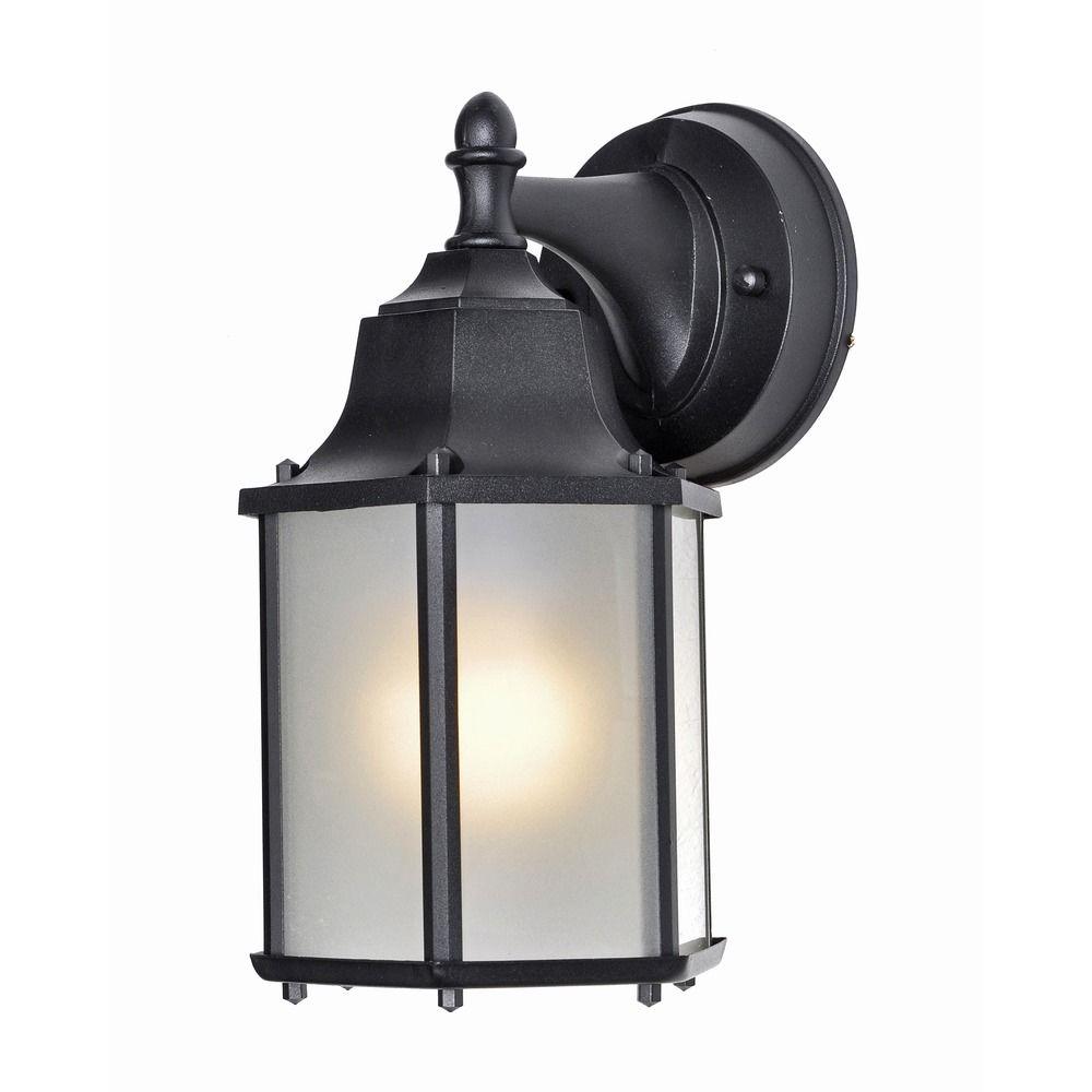 Led Outside Wall Lights Black : Maxim Lighting Side Door LED Black LED Outdoor Wall Light 56926BK Destination Lighting