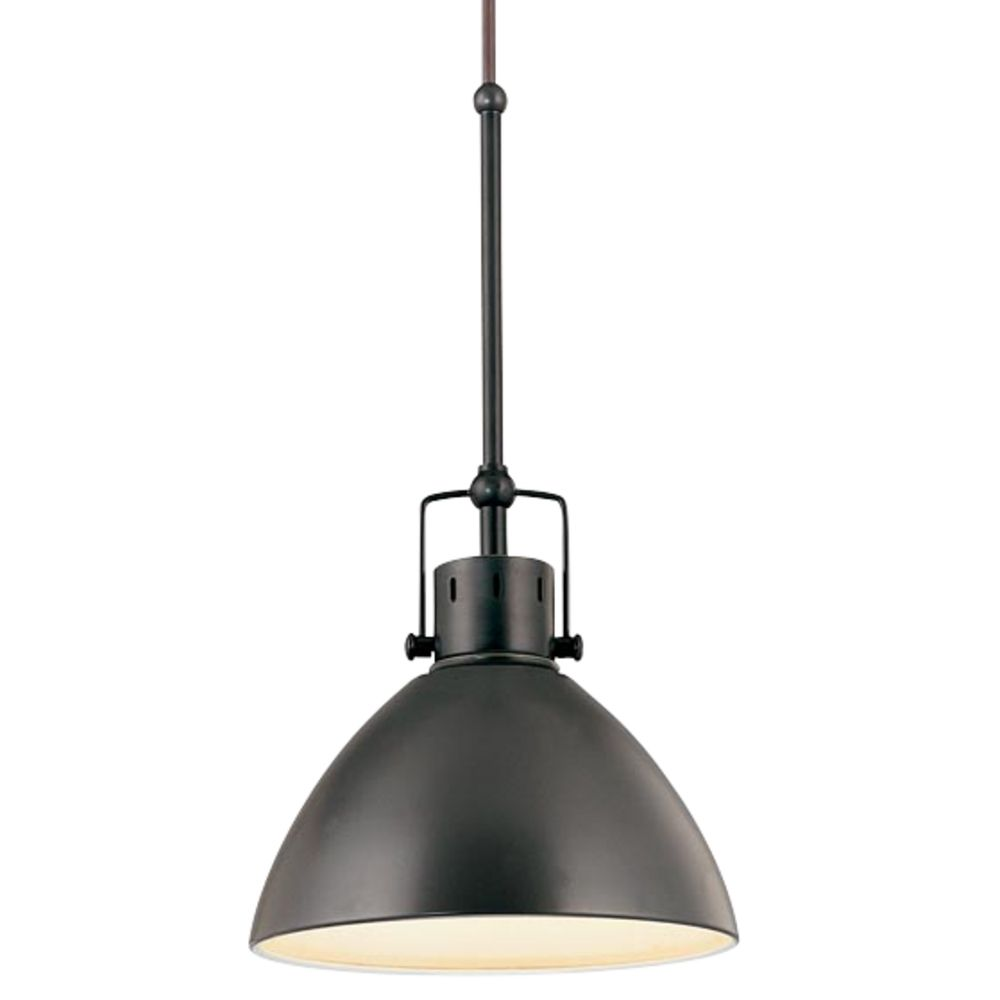 Retro Cone Mini Pendant Light In Aged Bronze At Destination Lighting
