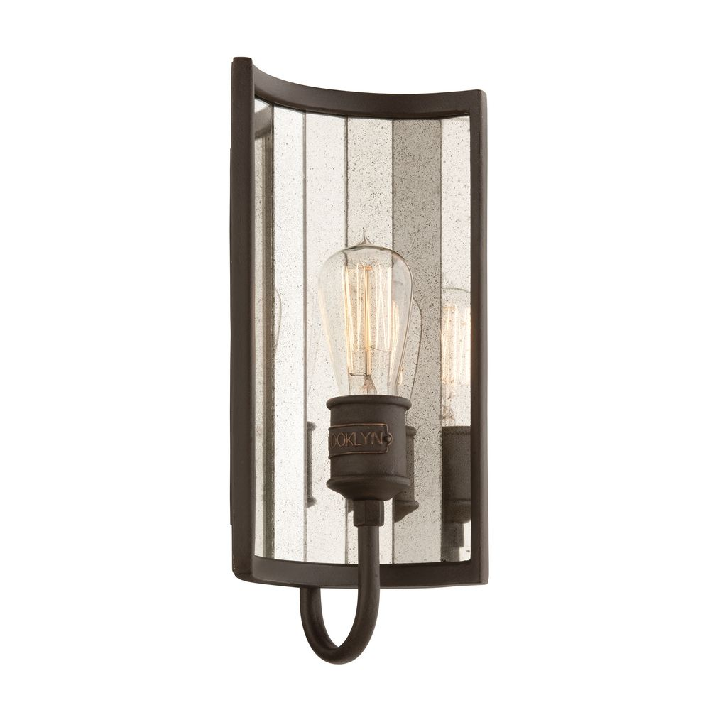 Wall Sconces For Bathroom : Sconce Wall Light in Brooklyn Bronze Finish B3141 Destination Lighting