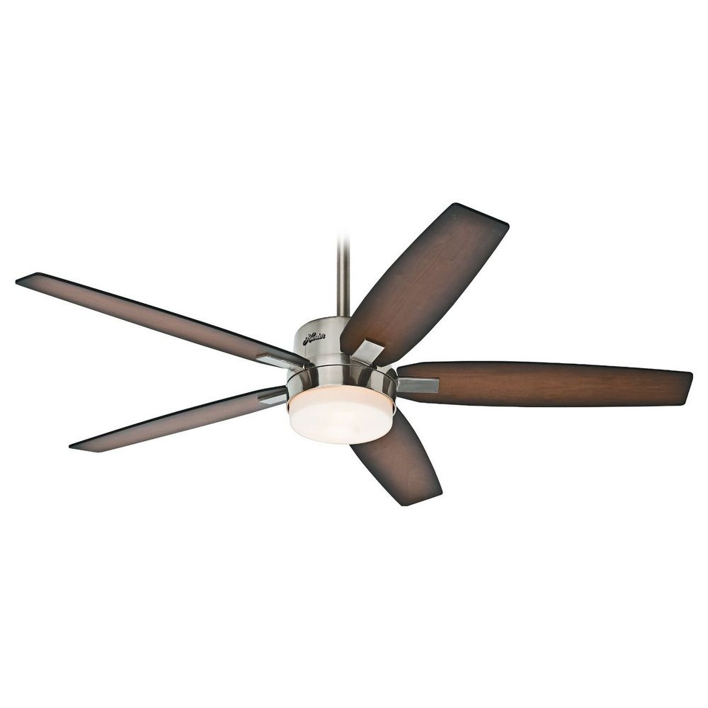 Hunter Ceiling Fans With Lights : Hunter fan company windemere brushed nickel ceiling