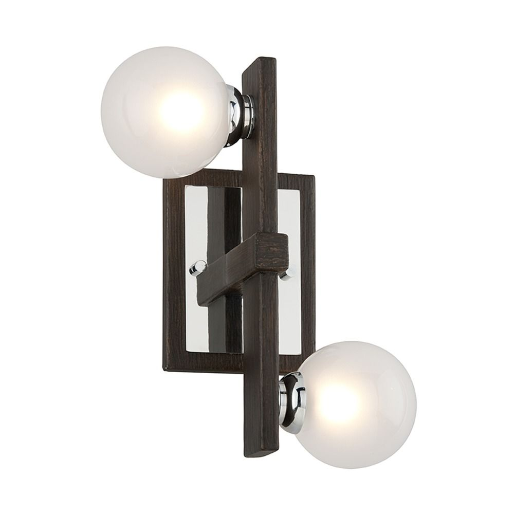 Mid Century Modern Sconce Bronze Chrome Network By Troy