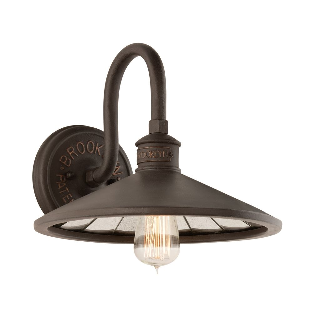 Wall Sconce Light Bulbs : Industrial Wall Sconce with Vintage Edison Bulb in Bronze Finish B3142 Destination Lighting
