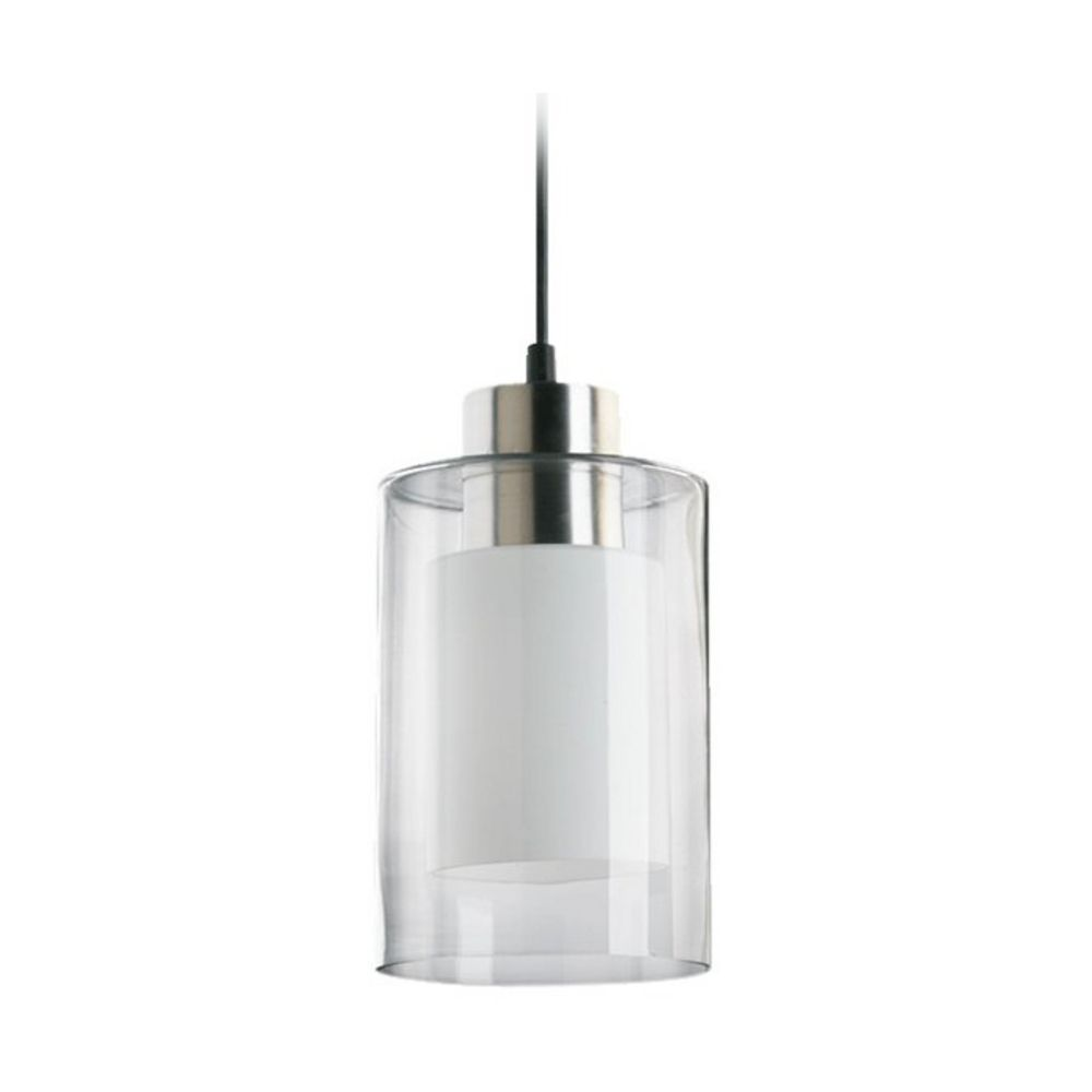 Modern Mini Pendant Light With Double Cylinder Glass