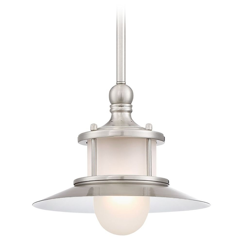 Maritime mini pendant light in brushed nickel acid etched Pendant lighting for kitchen