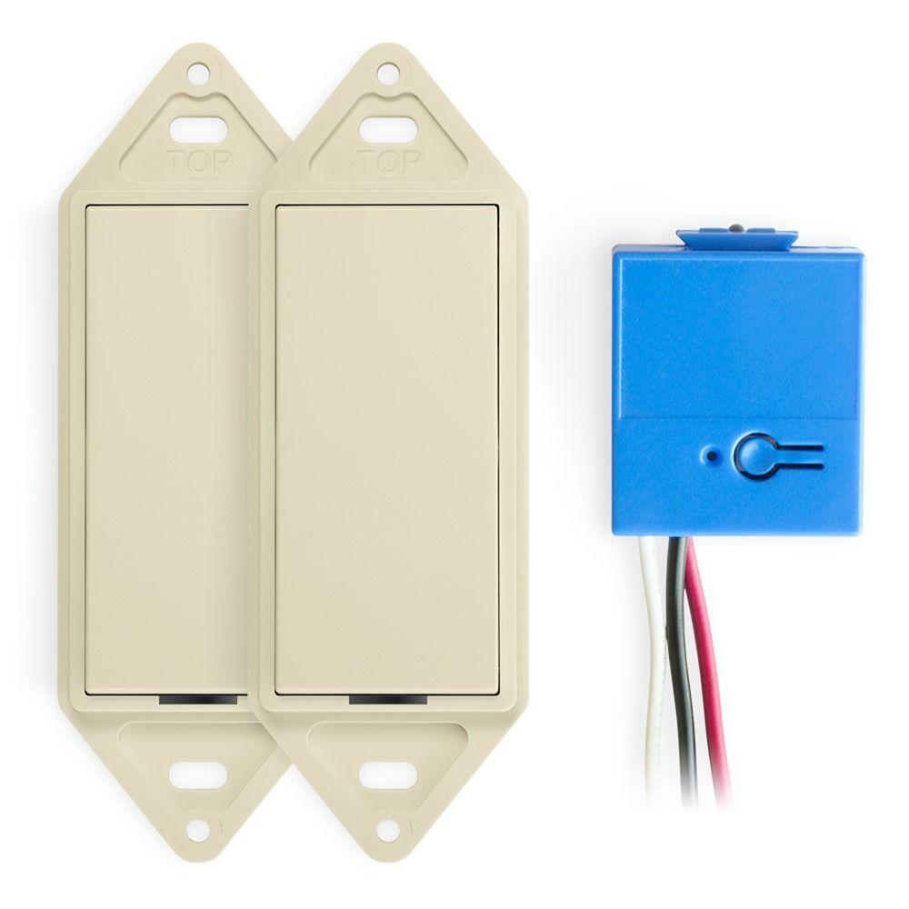 Wireless 3-Way Switch Kit Light Almond –Works Only with GoConex ...
