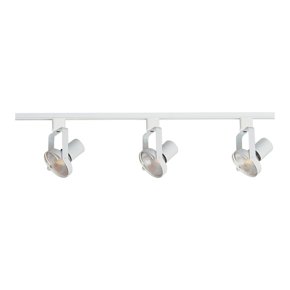 modern track light kit in white finish 92320wt