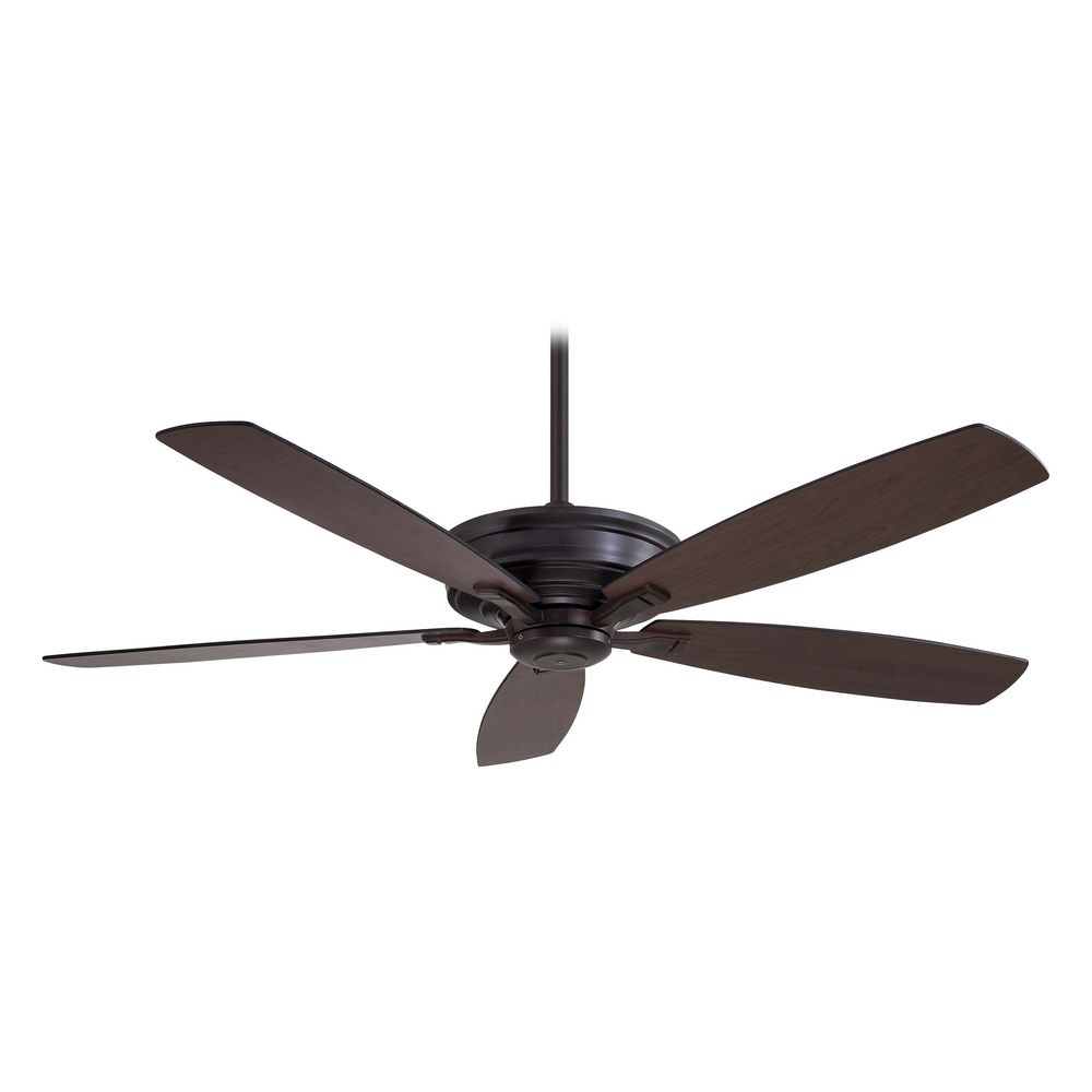 Ceiling Fans With Lights : Inch ceiling fan without light in kocoa finish f