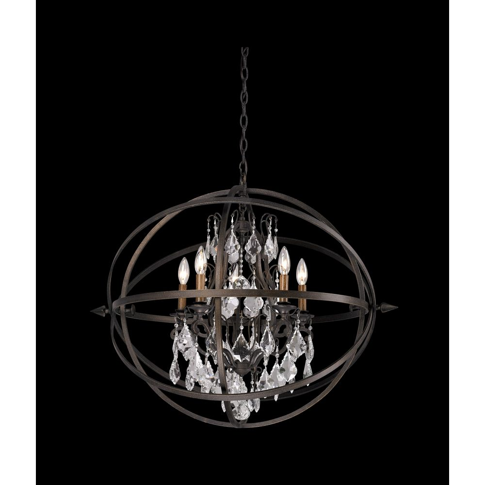 crystal orb chandelier pendant light f2996 destination lighting