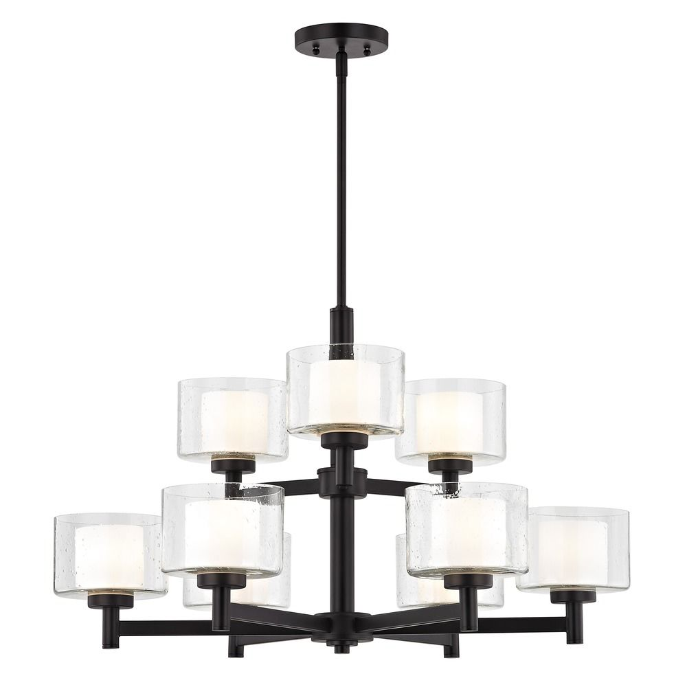 chandelier quoizel musethecollective nickel vintage trilogy light glass in seeded brushed