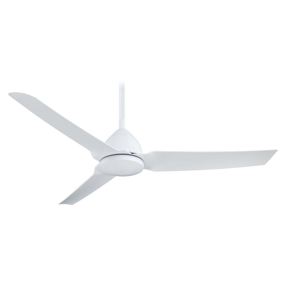 modern ceiling fan without light in white finish | f753-whf