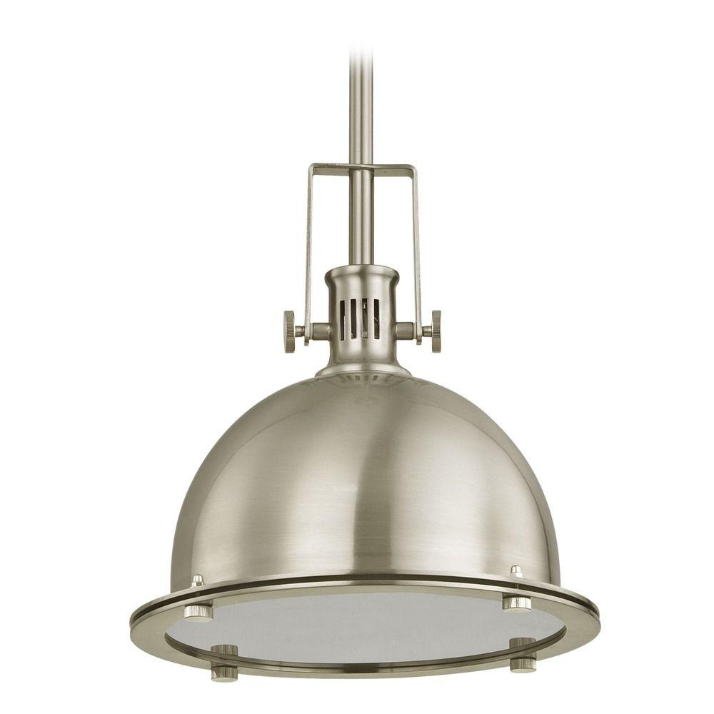 Industrial Pendant Light Satin Nickel 701 09