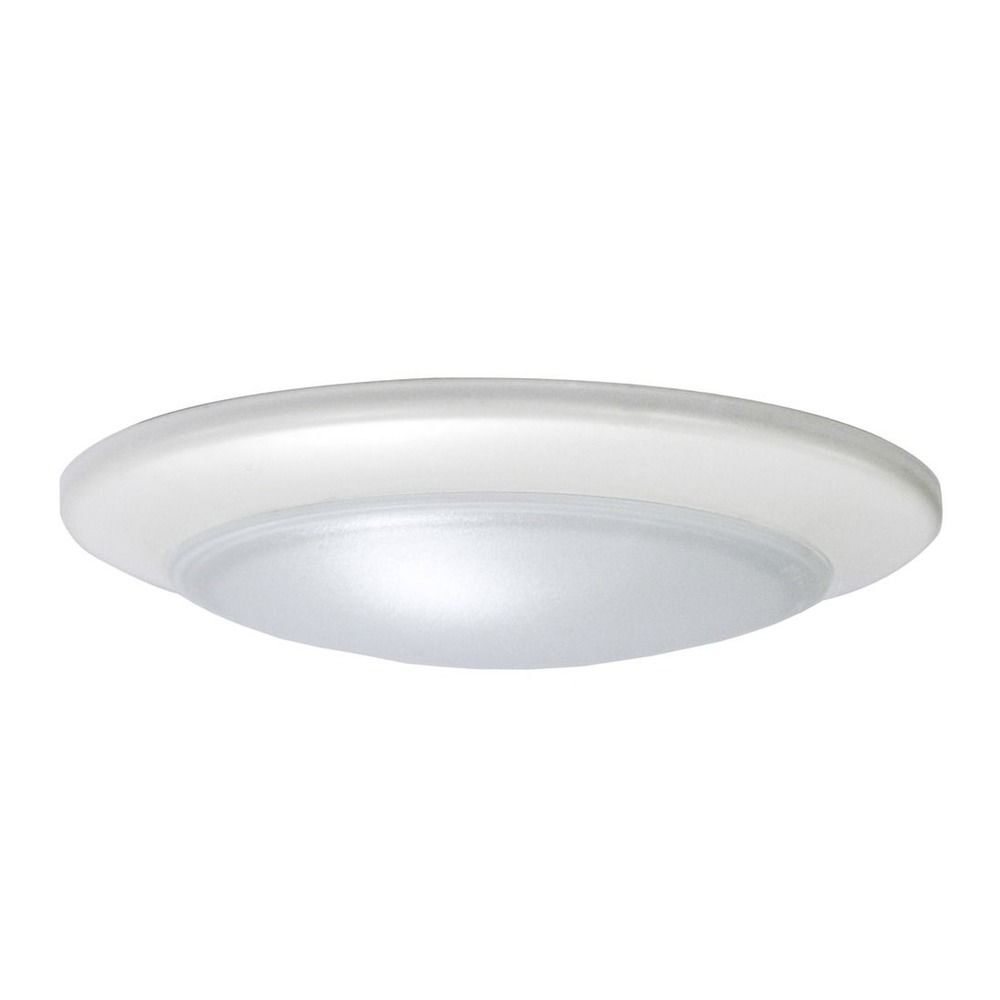 Led low profile white flush mount ceiling light 60 watt - Flush mount bathroom ceiling lights ...