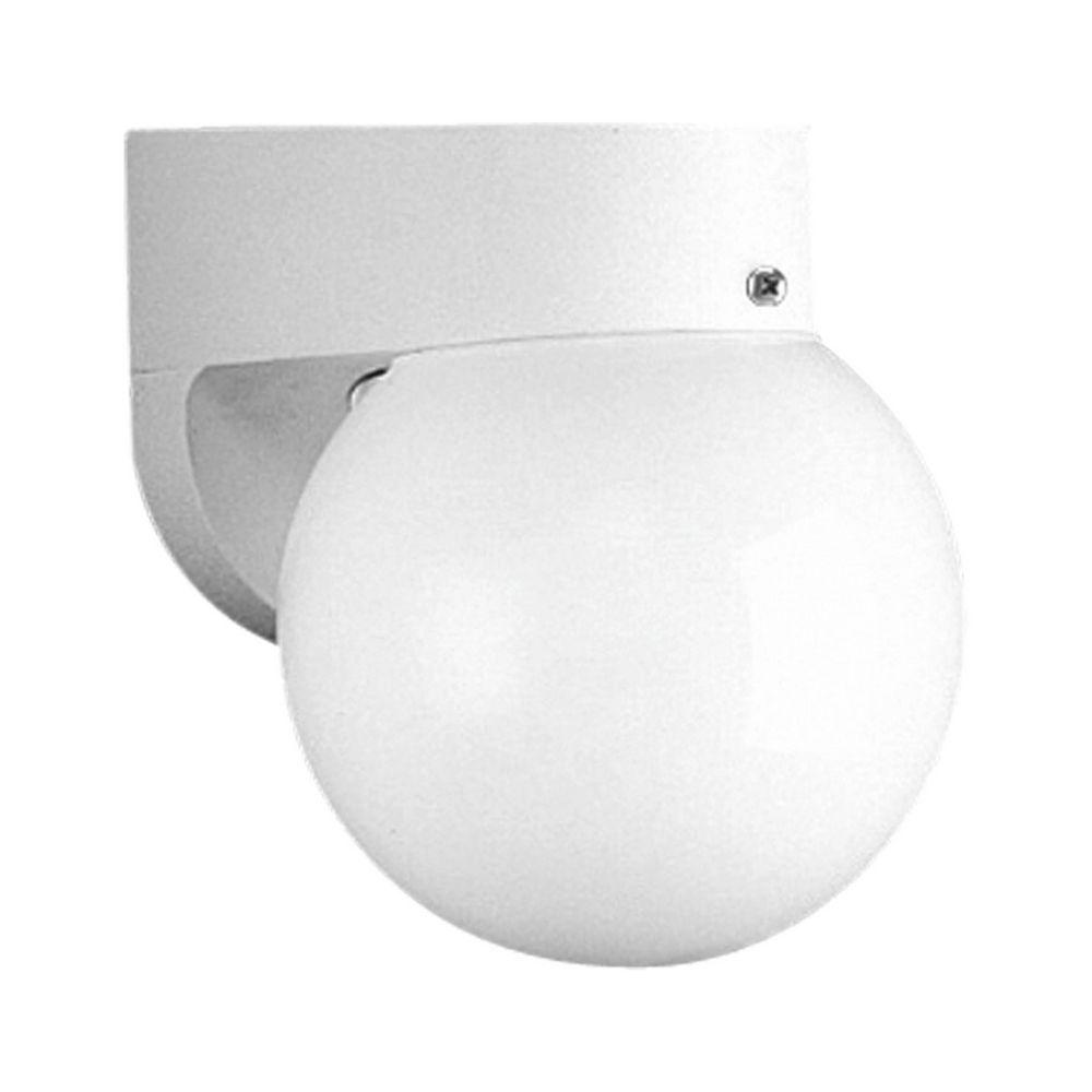 Mid Century Modern Outdoor Wall Light White Non Metallic By Progress Lighting P5816 30wb