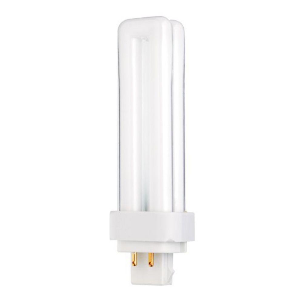 18 watt quad tube compact fluorescent light bulb with g24q 24 base s6733. Black Bedroom Furniture Sets. Home Design Ideas