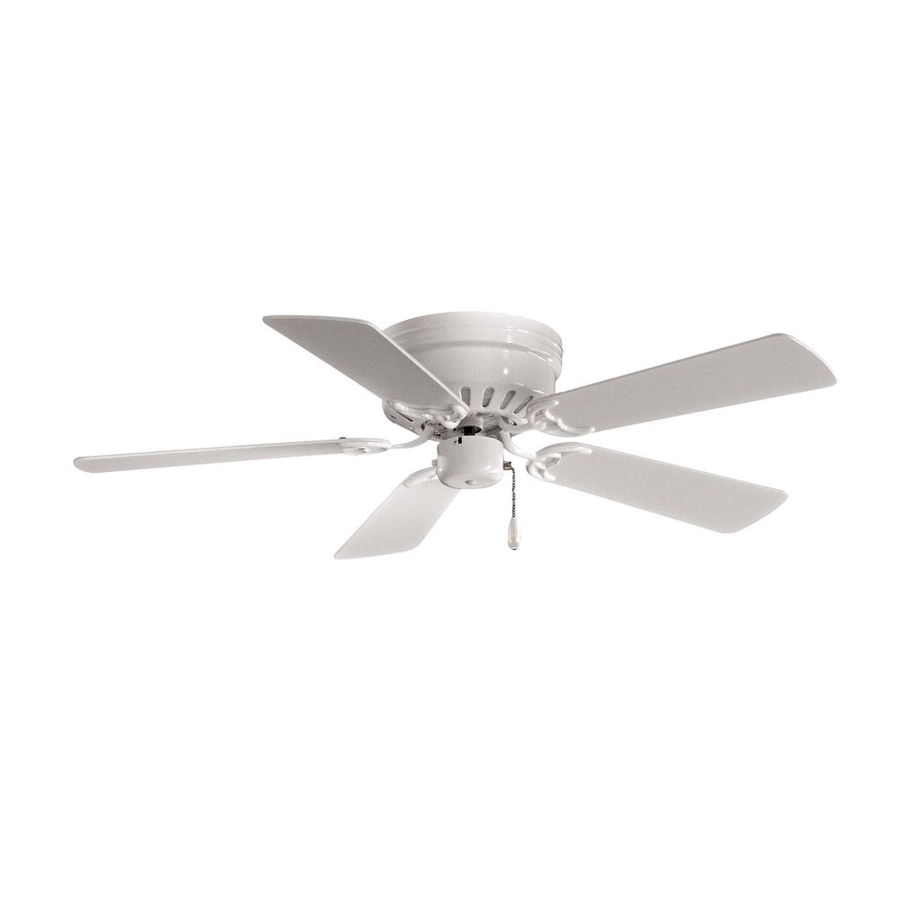 Ceiling fan without light in white finish f566 wh Ceiling fans no light