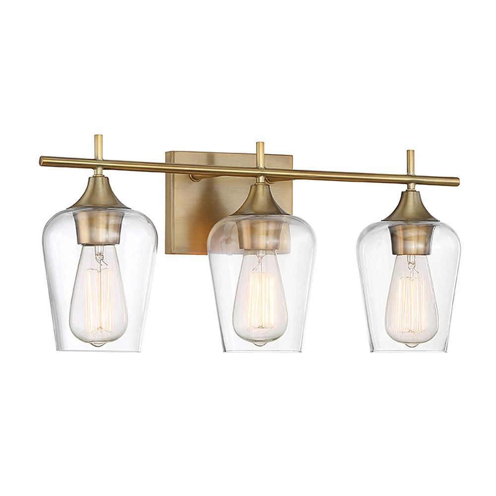 Savoy House Lighting Octave Warm Brass Bathroom Light Alt1.