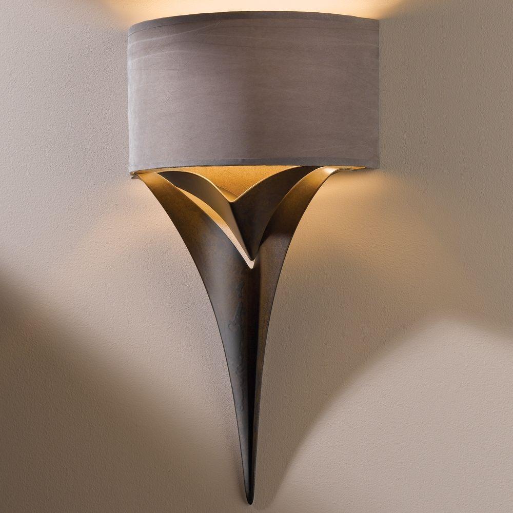 hubbardton forge lighting calla bronze sconce
