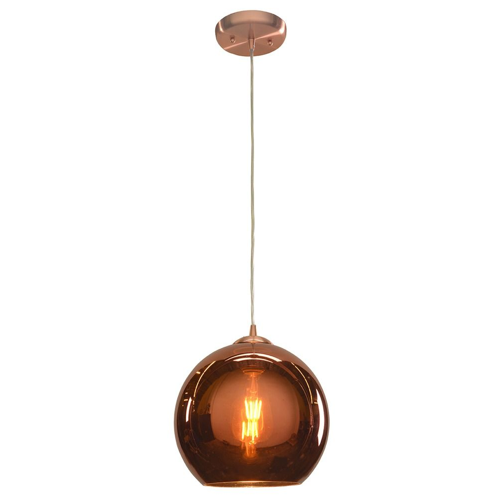 access lighting glow brushed copper mini