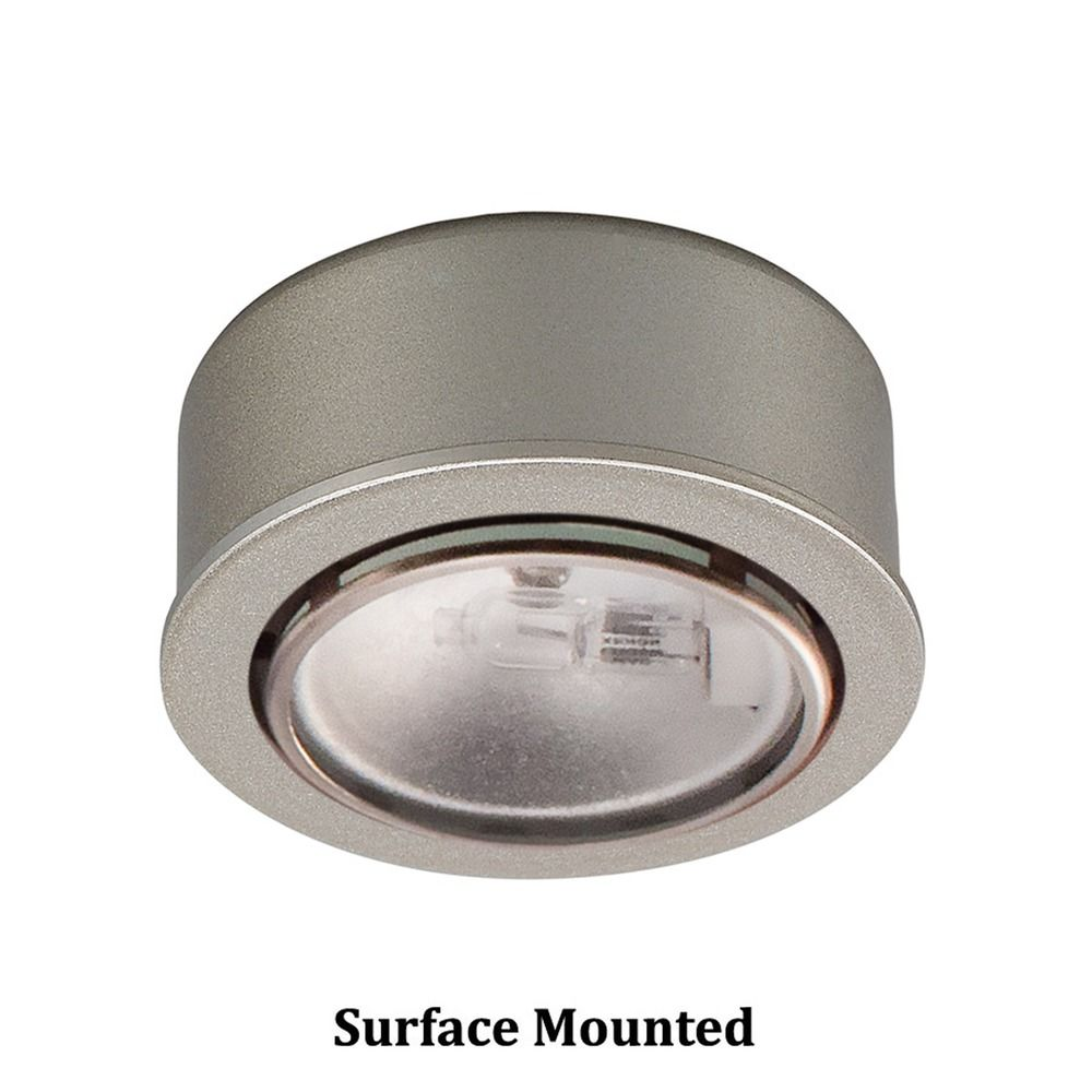 12v xenon puck light recessed surface mount brushed nickel by wac hover or click to zoom aloadofball Image collections