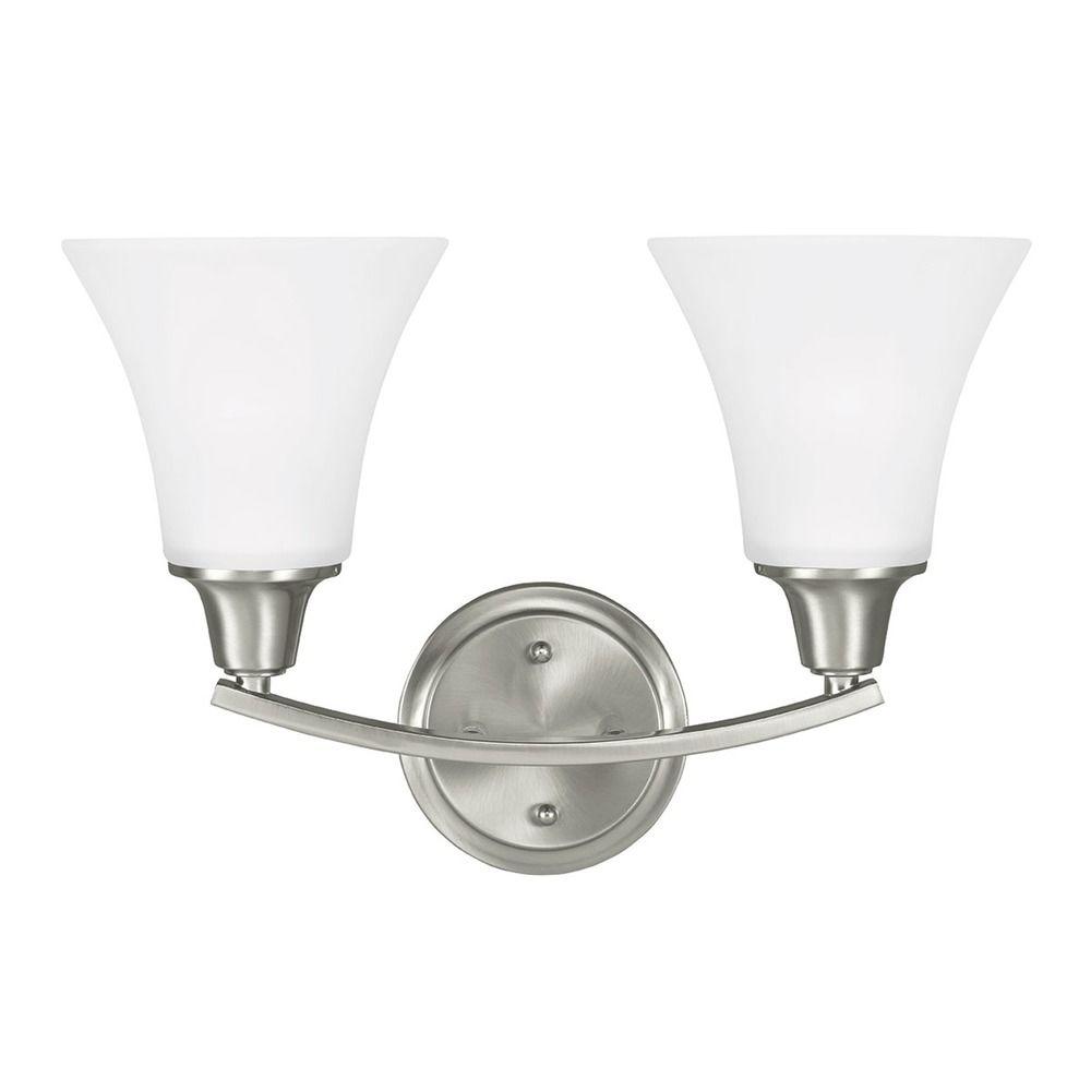 Sea Gull Lighting Metcalf Brushed Nickel Bathroom Light 4413202 962 Destination Lighting