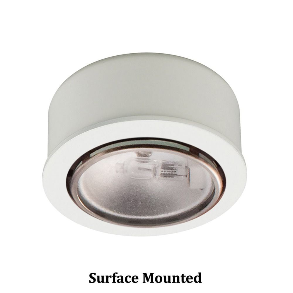 12V Xenon Puck Light Recessed / Surface Mount White By WAC