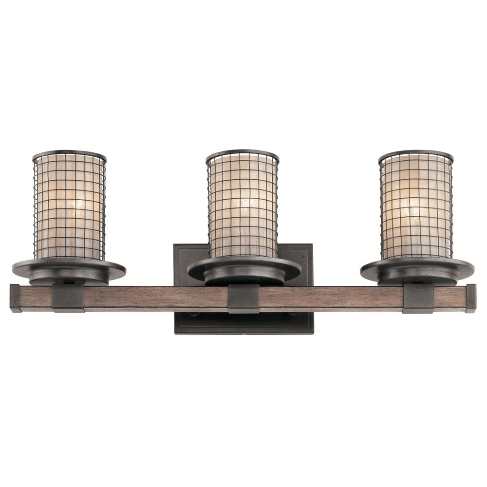 Kichler Lighting Ahrendale Anvil Iron Bathroom Light AVI - Iron bathroom light fixtures