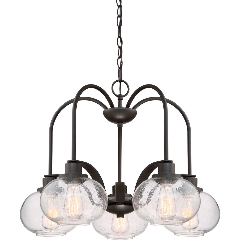 Edison Bulb Chandelier Bronze 26 Inch By Quoizel Lighting At Destination
