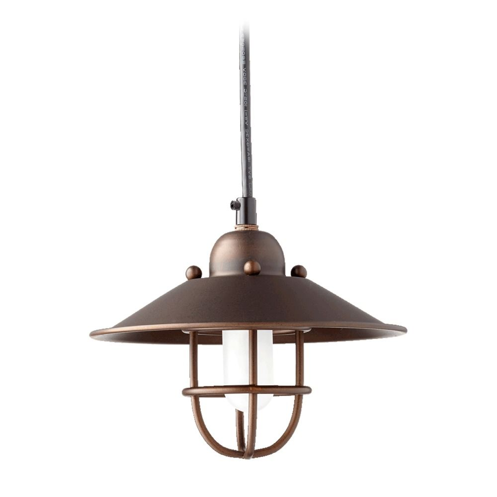 Quorum Lighting Oiled Bronze Mini Pendant Light