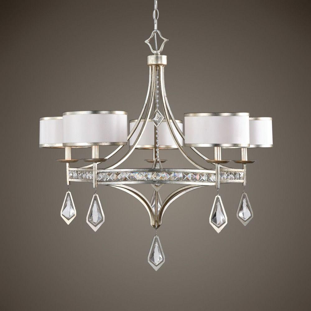 uttermost tamworth 5 light silver champagne chandelier alt1 - Uttermost Lights
