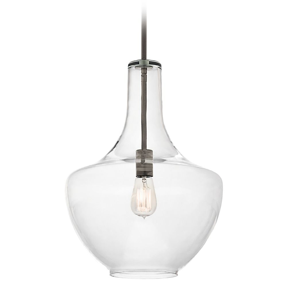 clear glass pendant lights. Kichler Lighting Pendant Light With Clear Glass In Olde Bronze Finish 42046OZ. Hover Or Click To Zoom Lights