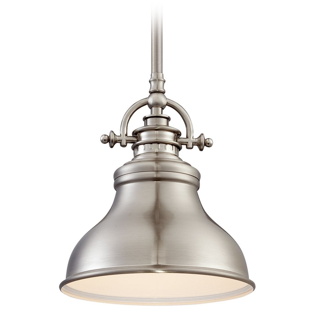 Quoizel Emery Brushed Nickel Mini Pendant Light