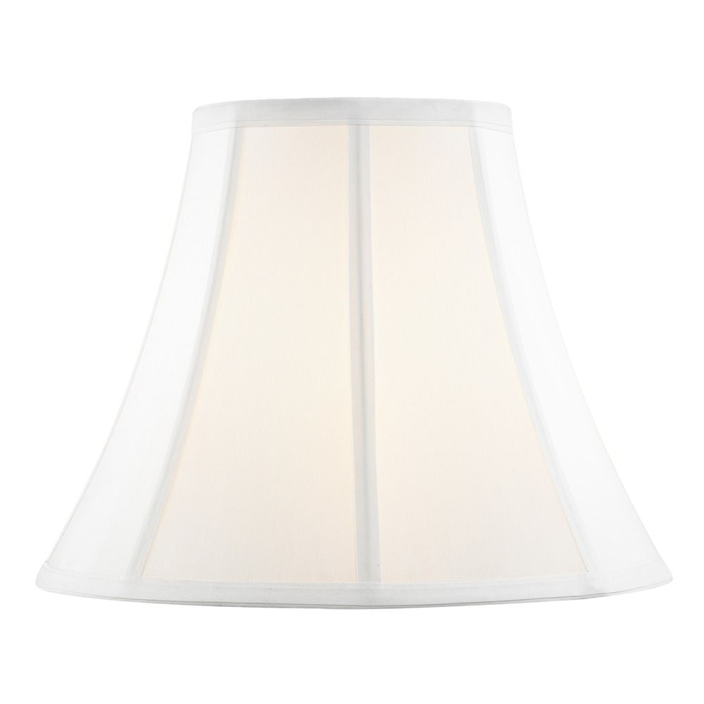 Pure White Bell Fabric Lamp Shade With