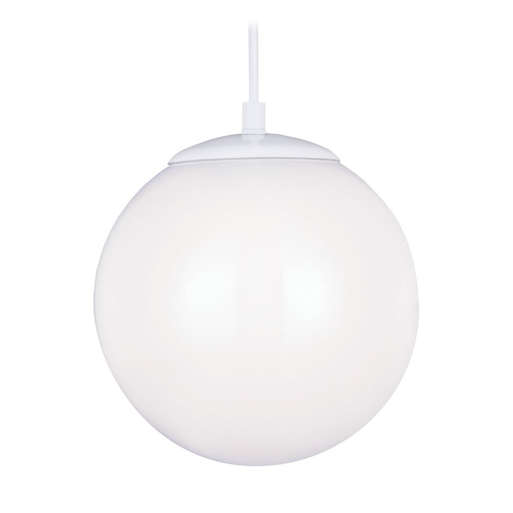 Mid century modern led mini pendant light white hanging for Mid century modern globe pendant light