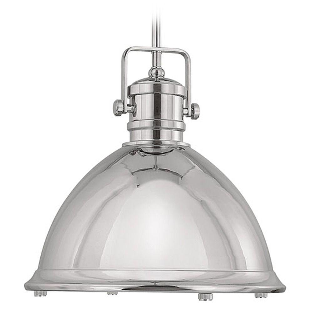 Capital Lighting Polished Nickel Pendant Light With Bowl