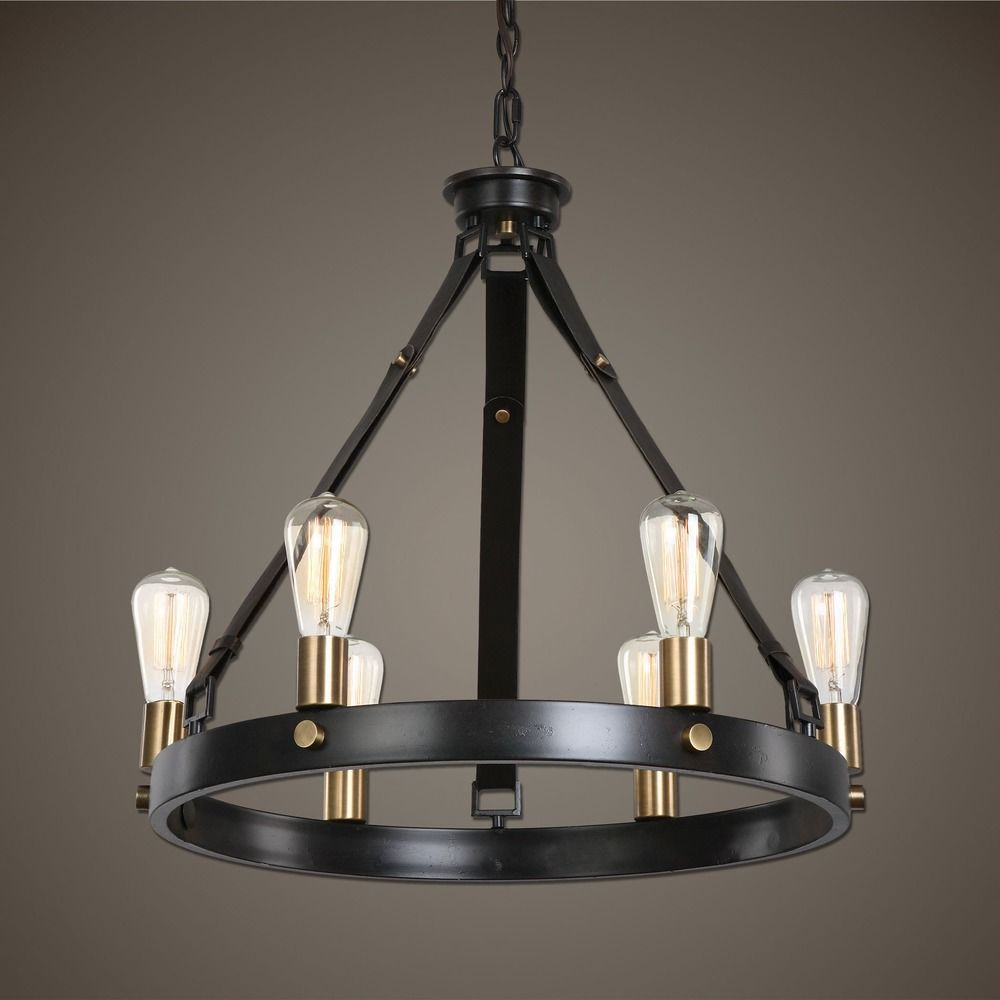 Uttermost marlow 6 light antique bronze chandelier 21273 uttermost marlow 6 light antique bronze chandelier alt1 arubaitofo Images