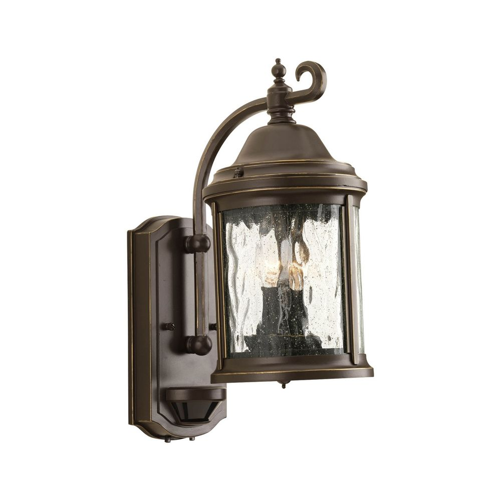 Bronze Finish Wall Lights : Outdoor Wall Light with Clear Glass in Antique Bronze Finish P5854-20 Destination Lighting