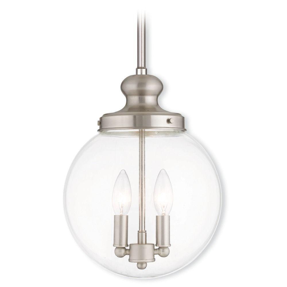 Livex Lighting Sheffield Brushed Nickel Mini-Pendant Light