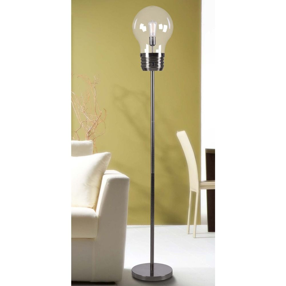 Kenroy Home Lighting Edison Antique Brass Floor Lamp with Globe ...