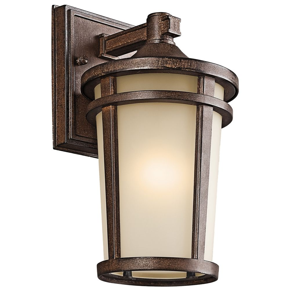 Outdoor Wall Lights Types: Kichler Outdoor Wall Light In Brown Stone Finish