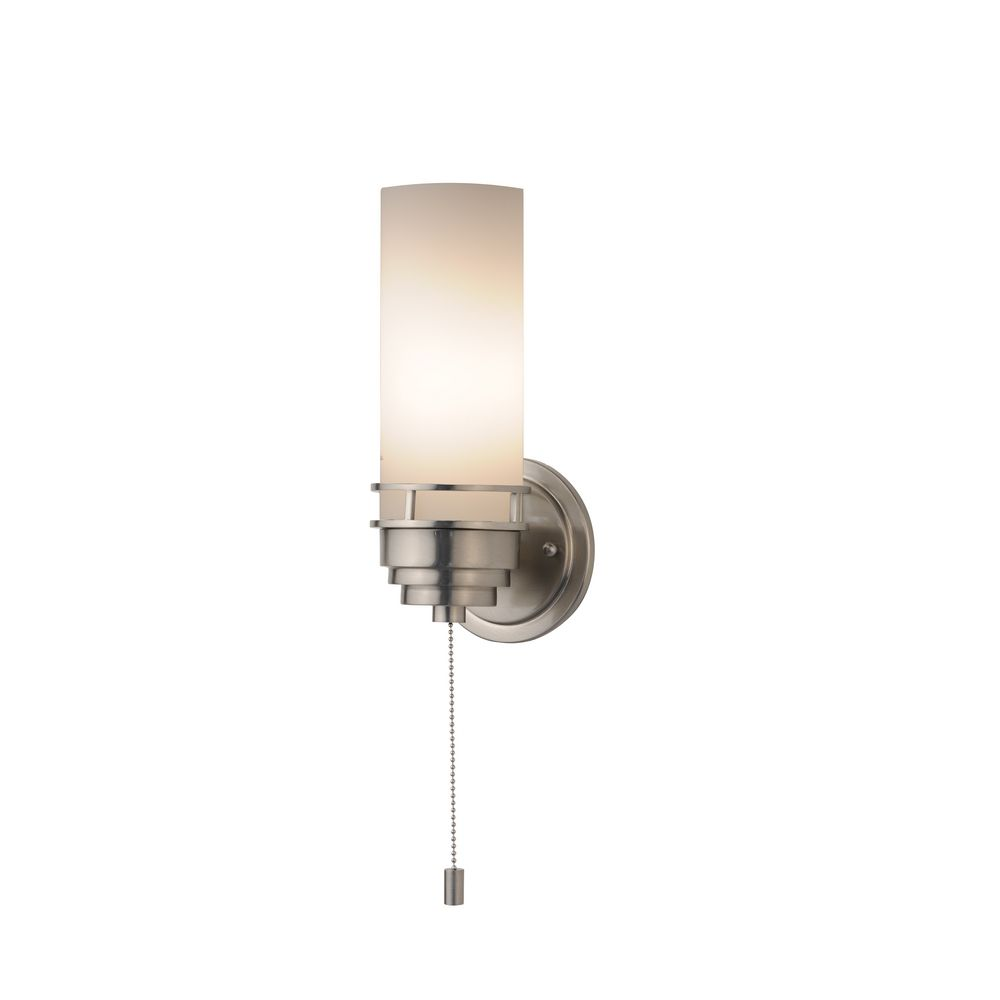 lighting contemporary single light sconce with pull chain switch 203. Black Bedroom Furniture Sets. Home Design Ideas