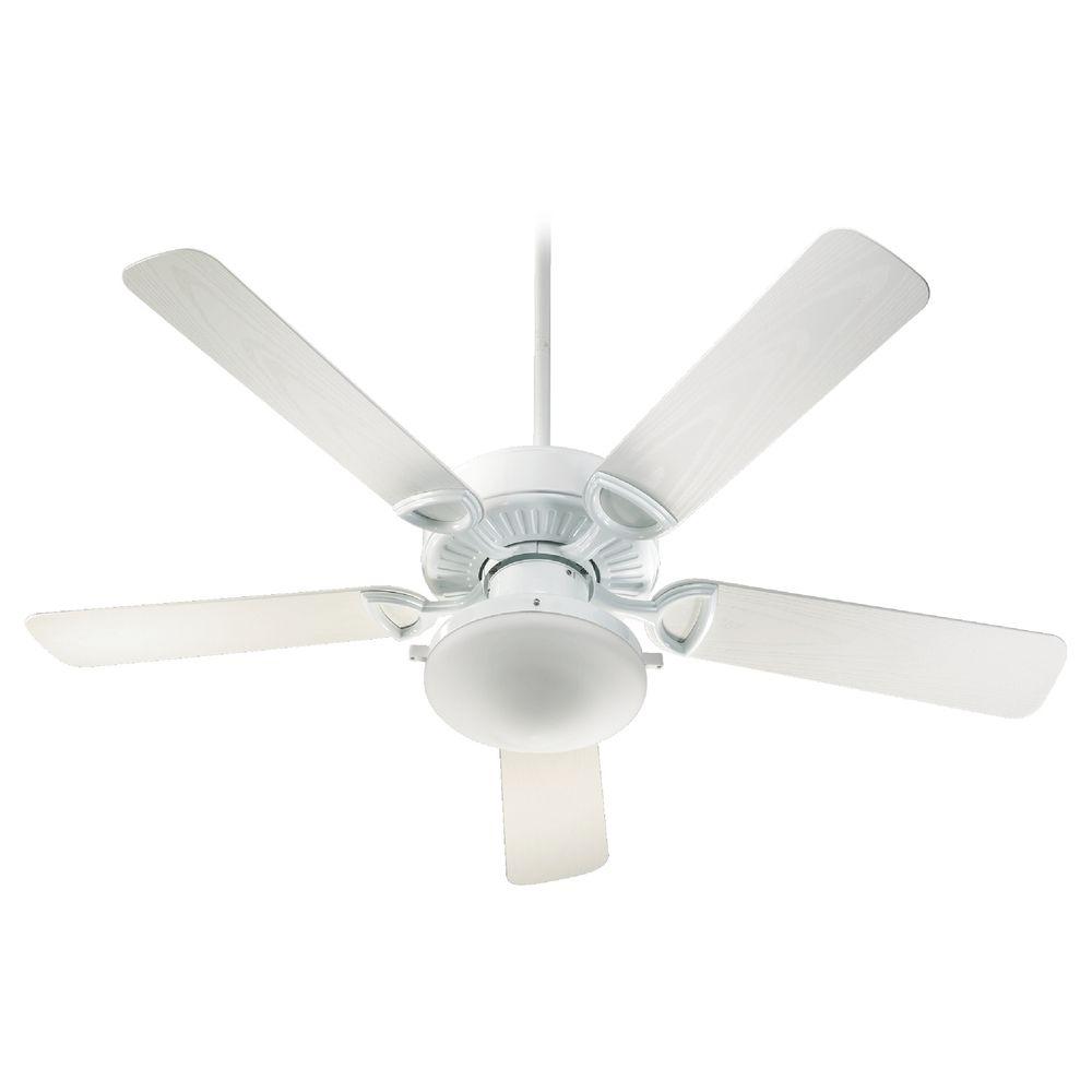 Quorum Lighting Estate Patio White Ceiling Fan With Light